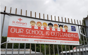 Ofsted OUTSTANDING children banner